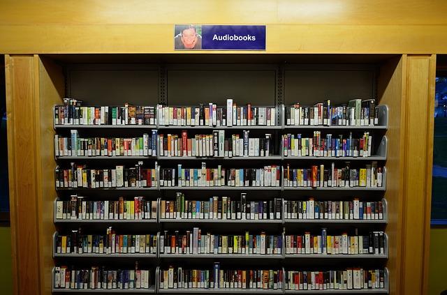 audioknihy v knihovně