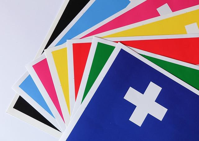 vzorky barev