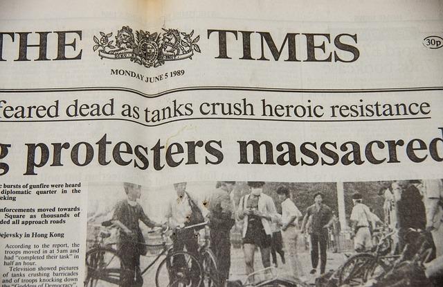 přední strana novin